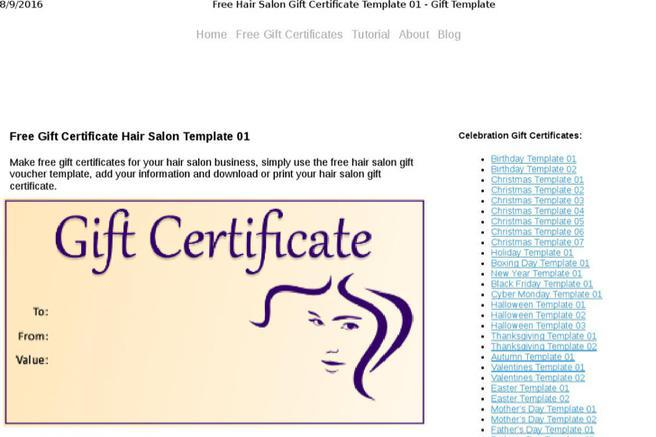 Hair gift certificate template choice image template design free download hair salon gift certificate template for free tidyform yelopaper Images