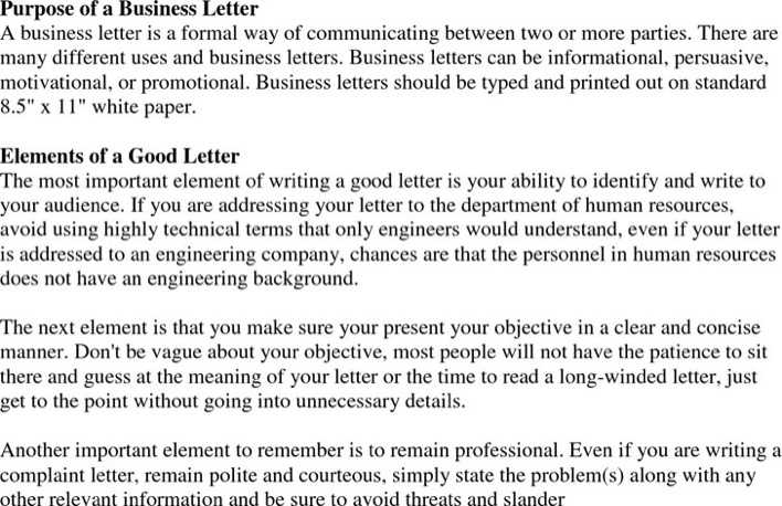 an Example Complaint Letter  Scribendi