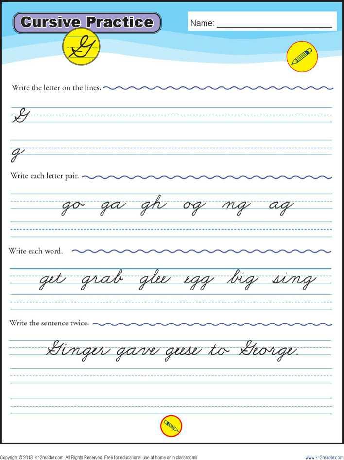 writing in cursive practice