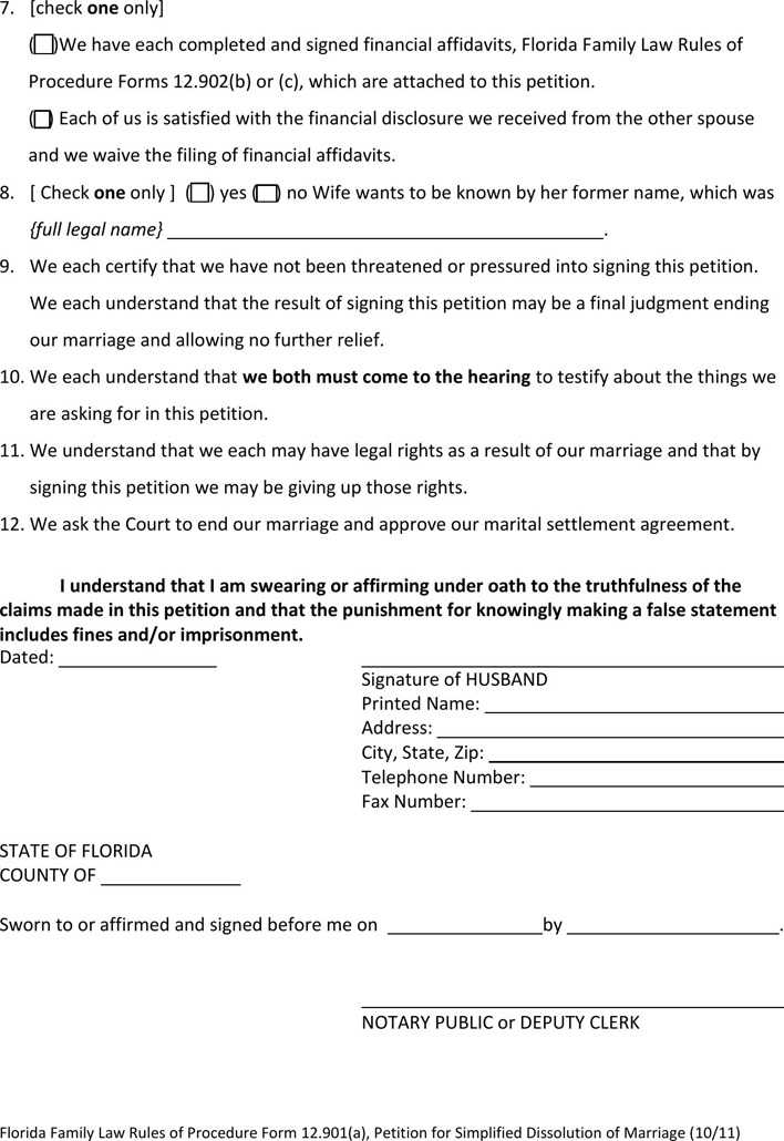 Florida Marital Settlement Agreement Images Agreement Letter Format
