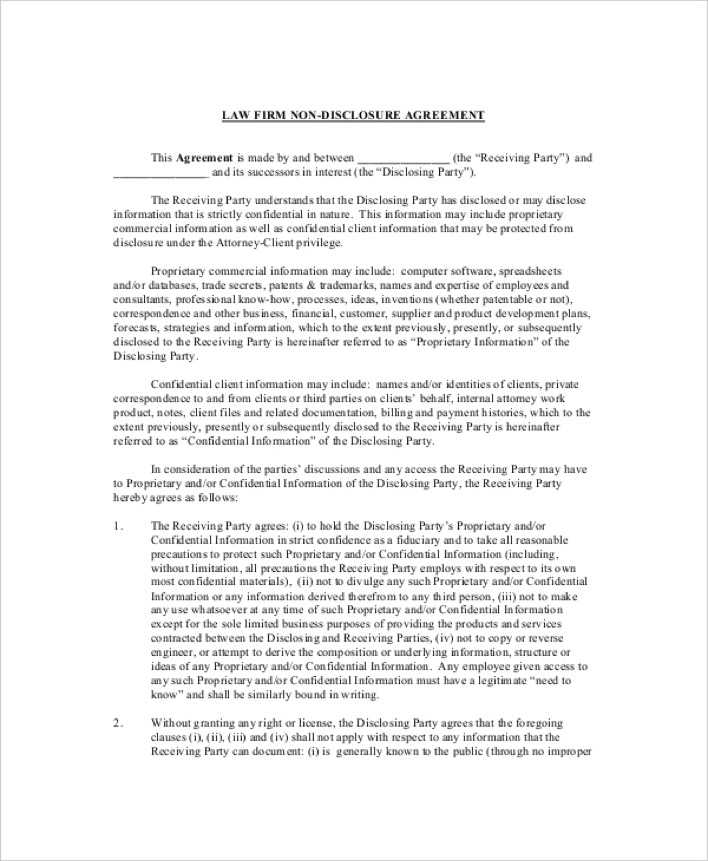 Blank Non Disclosure Agreement Novaondafm