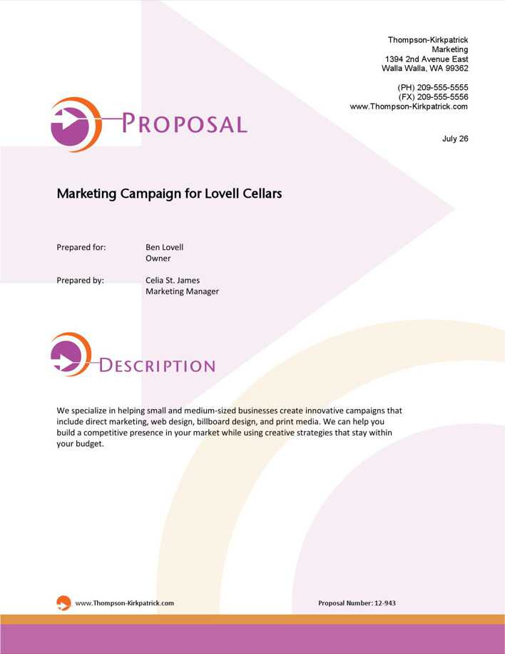 business proposal paper format