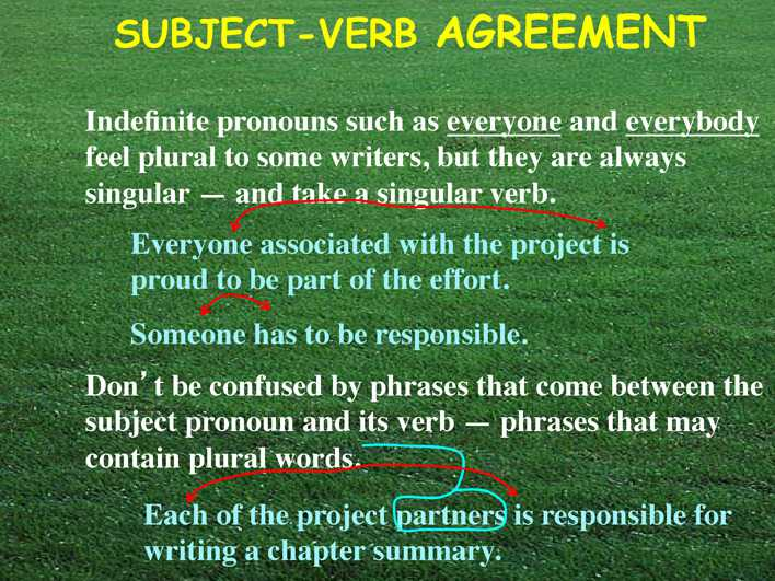 subject verb agreement thesis