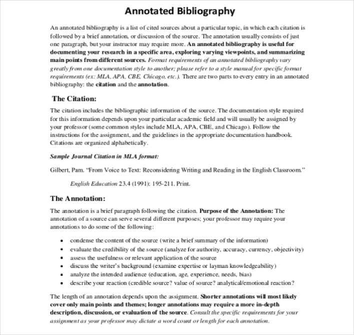 Annotated Bibliography Example and Useful Tips for