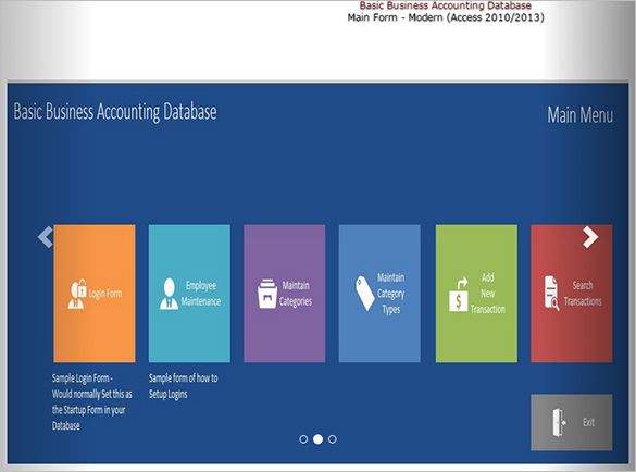 Microsoft Access Template Databases