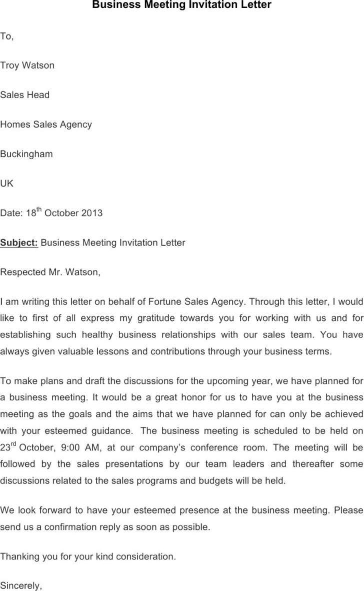 Business invitation letters solarfm invitation letter with rsvp letters free sample letters stopboris Image collections