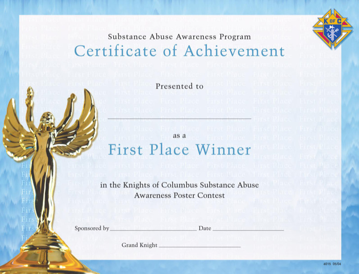 first prize winner certificate template download free