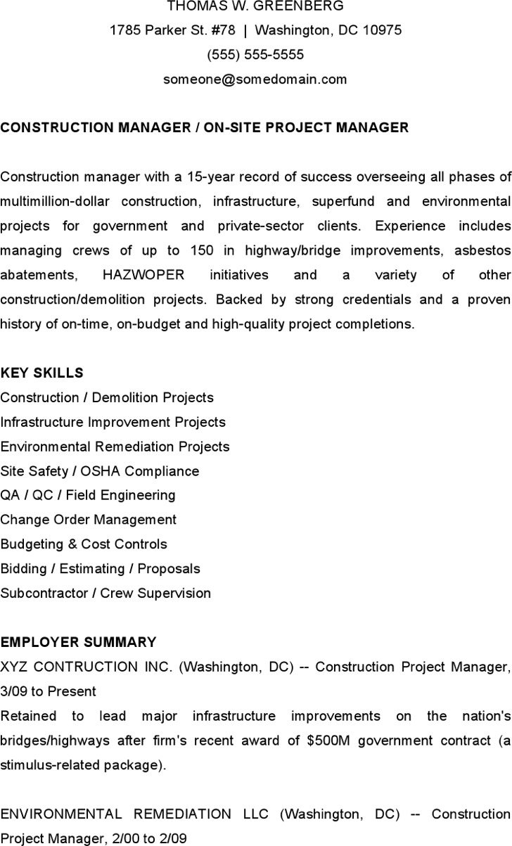 Hazwoper on resume