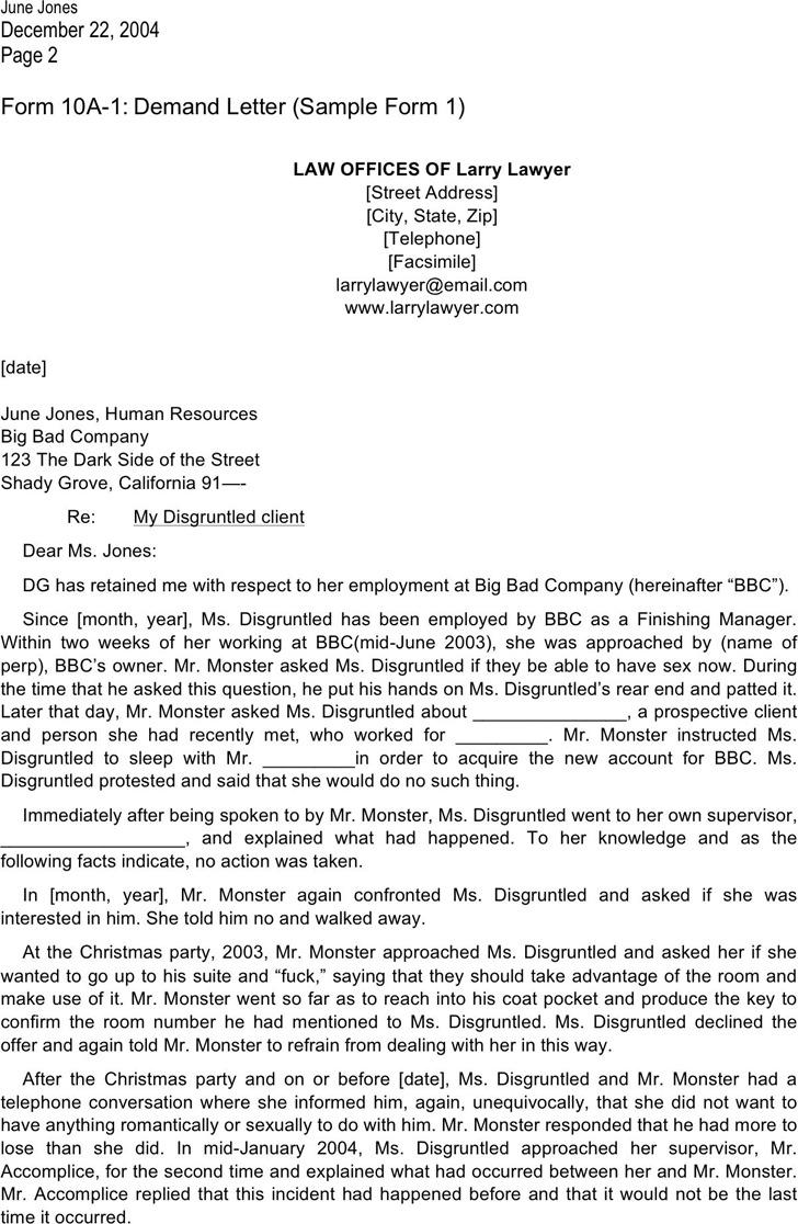 Sample legal letter template trattorialeondoro altavistaventures Choice Image