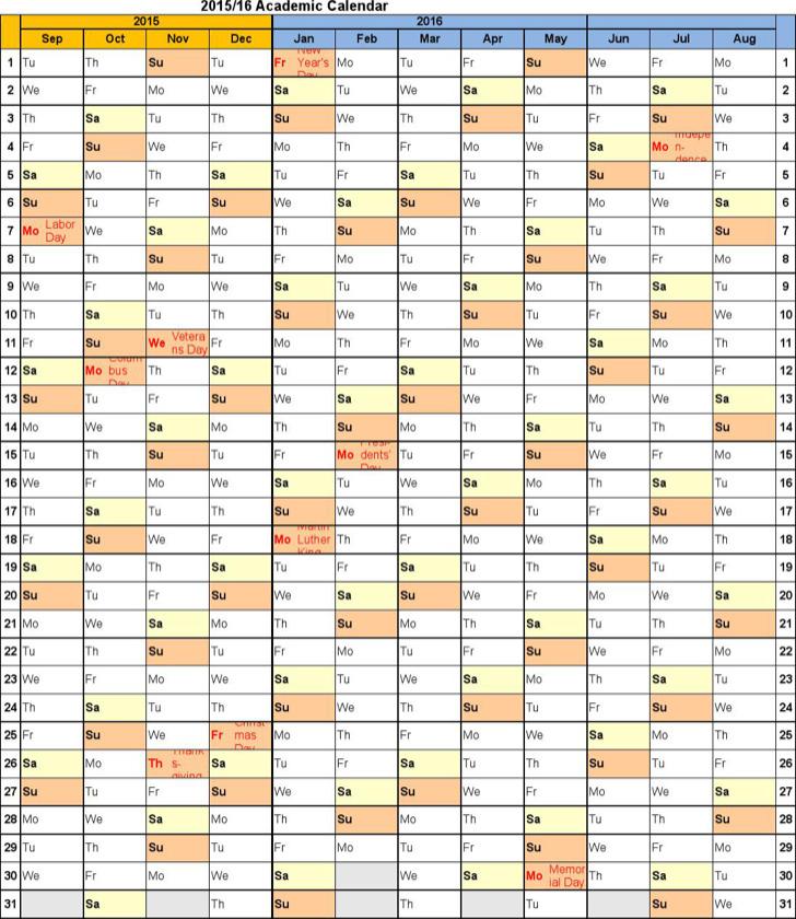 academic calendar template - solarfm.tk