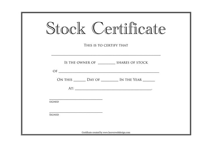 share and stock certificate template | novaondafm.tk