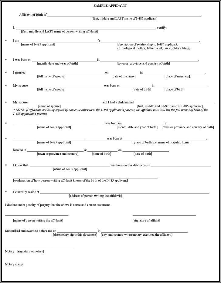 sample affidavit template   datariouruguay