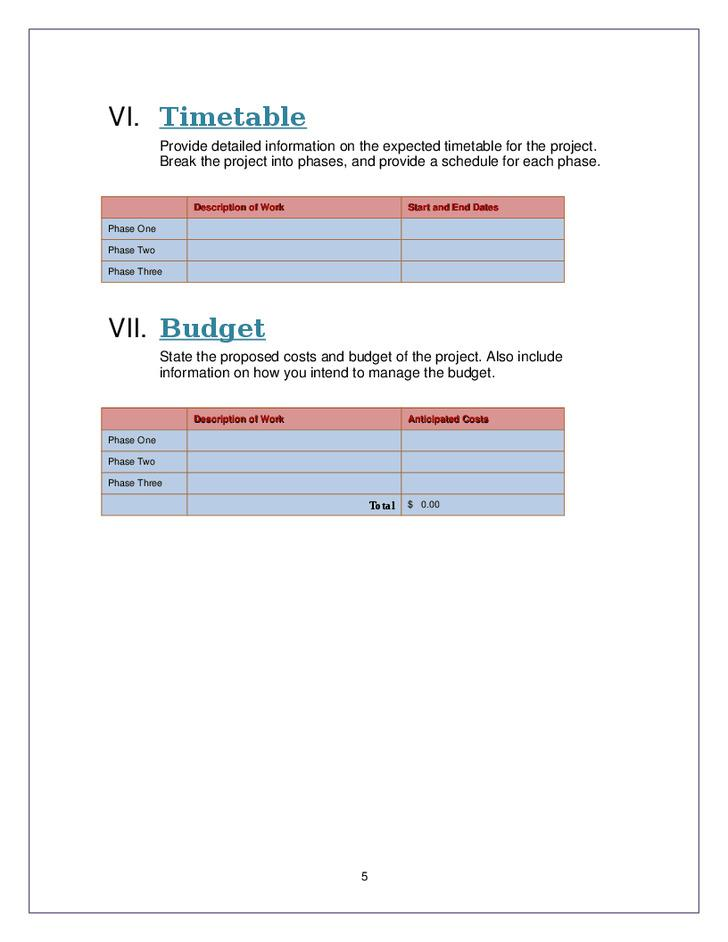 Staff Hiring Proposal Template Proposal Templates Mandegarfo