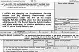 Application for Supplemental Security Income