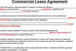 Sample Commercial Lease Templates