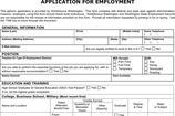 Generic Application for Employment