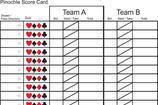 Pinochle Score Sheet