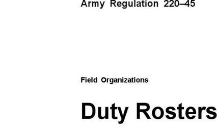 Duty Roster Templates