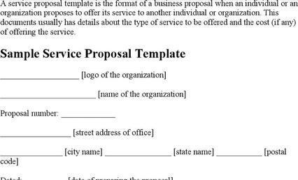 Service Proposal Templates