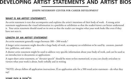 Artist Statement Examples