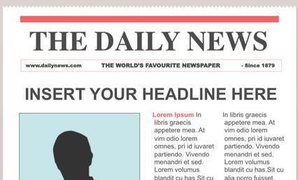 Editable Newspaper TemplatePdf EBook And Manual Templates The Template Essentially Contains A Wide Variety Of Cheerful Layouts Clipart