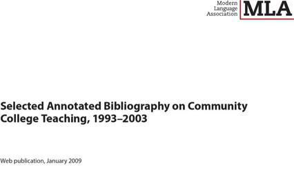 Teaching Annotated Bibliography Templates