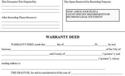 General Warranty Deed Form