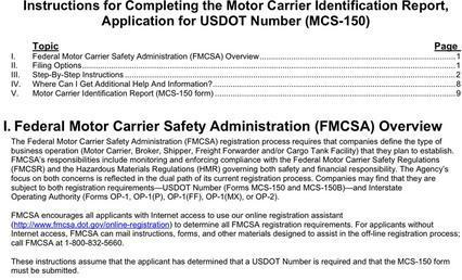 Motor carrier identification report mcs 150 for What is the motor carrier identification number