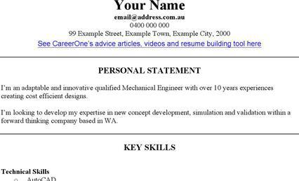 Engineering CV Template