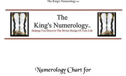 The Kings Numerology Chart