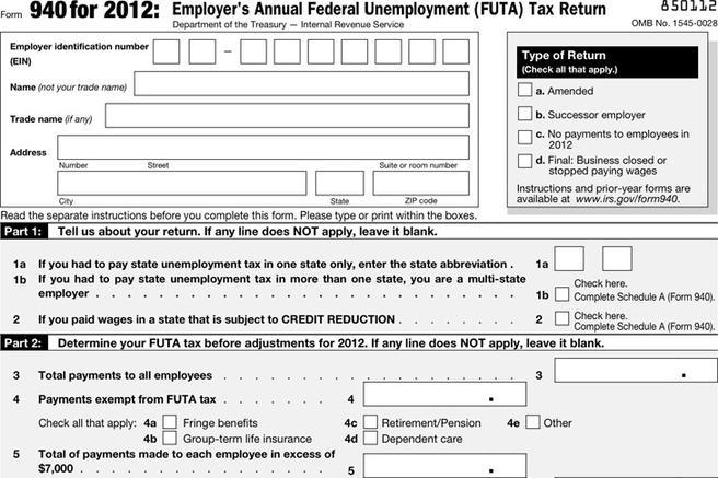 Form 940 | Download Free & Premium Templates, Forms & Samples for ...