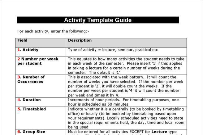 Schedule Template – Seminar Schedule Template