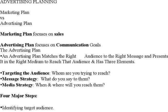 Advertising Plan Templates
