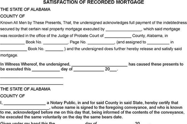 Loan Form – Release of Mortgage Form