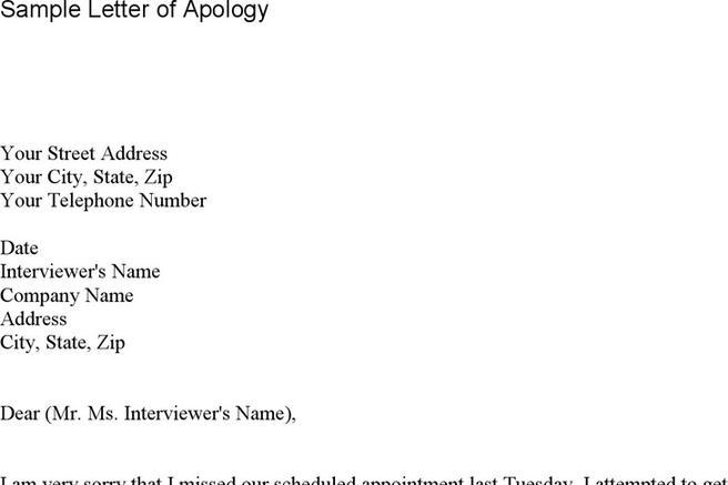 Sample Letter Of Apology Letter Of Apology College Of Business