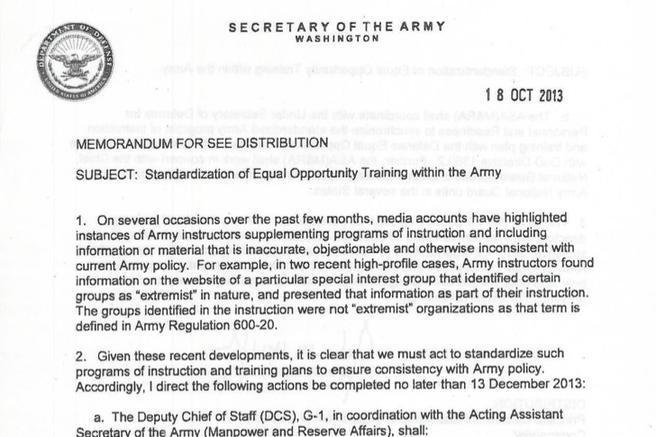 Army Memo