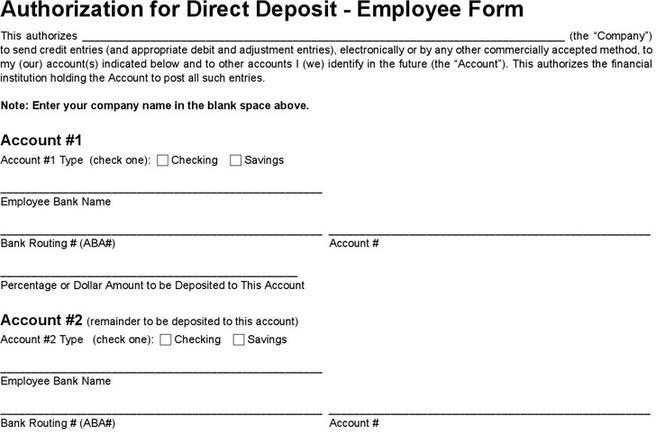 Deposit Form