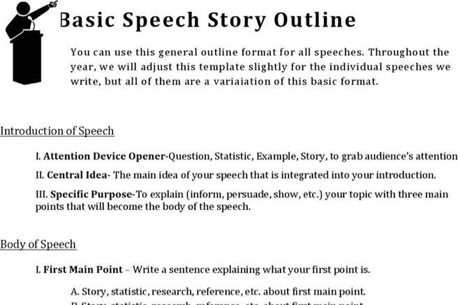 story outline example