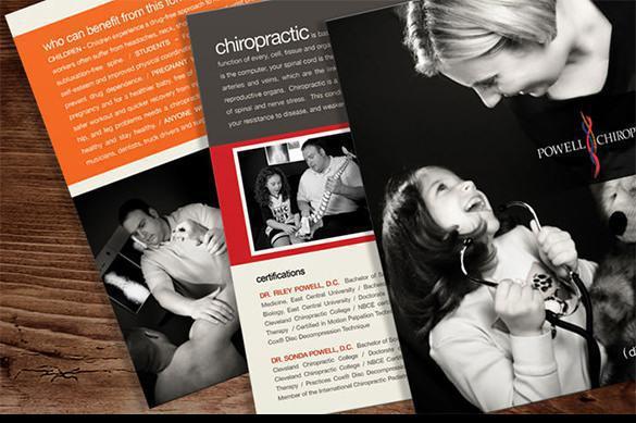 Brochure templates download free premium templates for Chiropractic brochures template