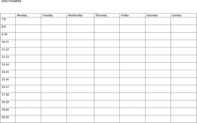 Sample Best Daily Planner Templates