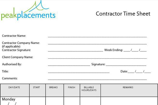 Timesheet Template | Download Free & Premium Templates, Forms
