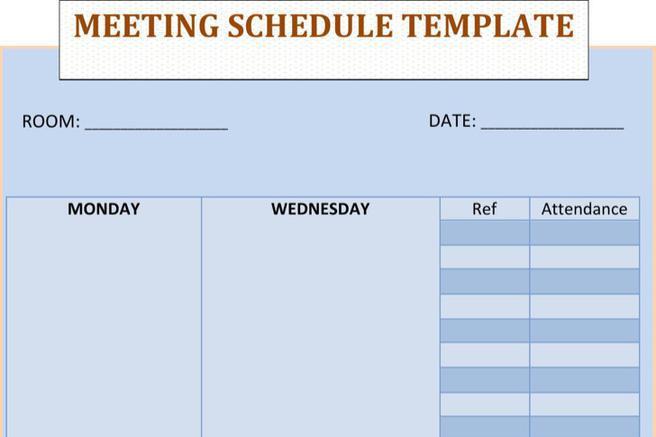 Schedule Template – Meeting Scheduler Template