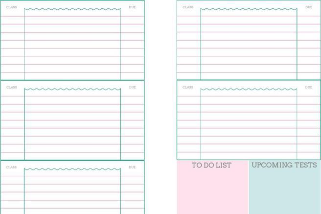 Student Daily Planner Templates