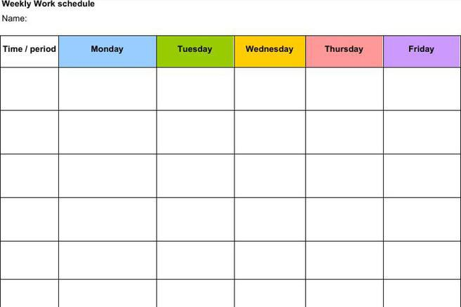 Schedule Template | Download Free & Premium Templates, Forms ...