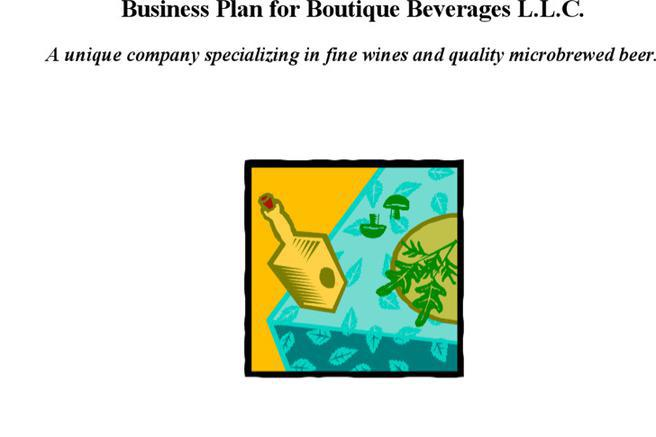 Boutique Business Plan Template