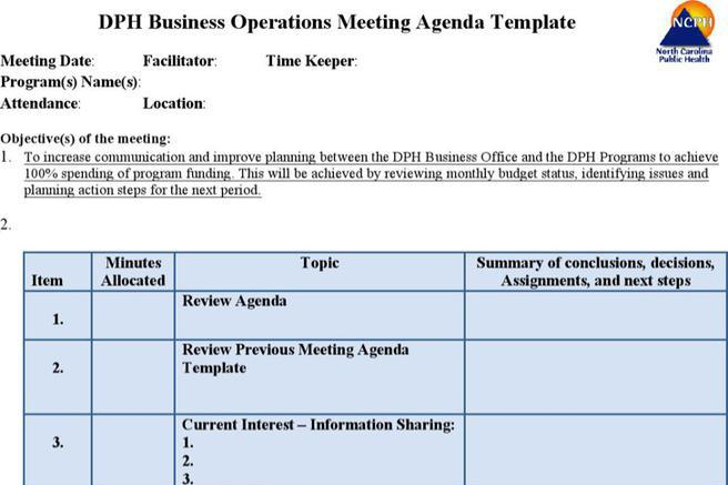 Company Meeting Agenda Templates | Download Free & Premium