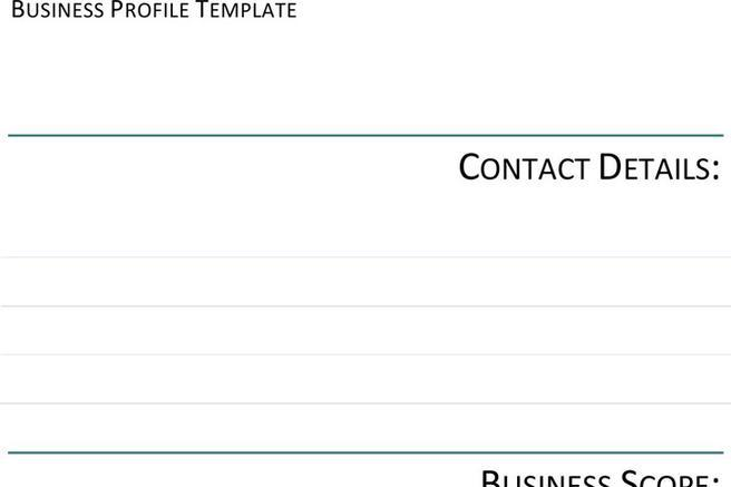 Business Profile Template | Download Free U0026 Premium Templates, Forms U0026  Samples For JPEG, PNG, PDF, Word And Excel Formats  Business Profile Template