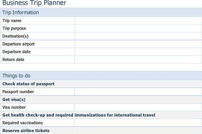 Business travel checklist template acurnamedia business travel checklist template flashek Gallery