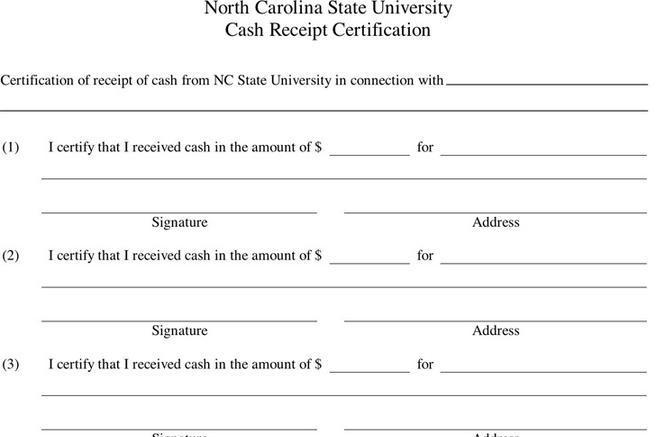 Receipt Template – Petty Cash Receipt Template