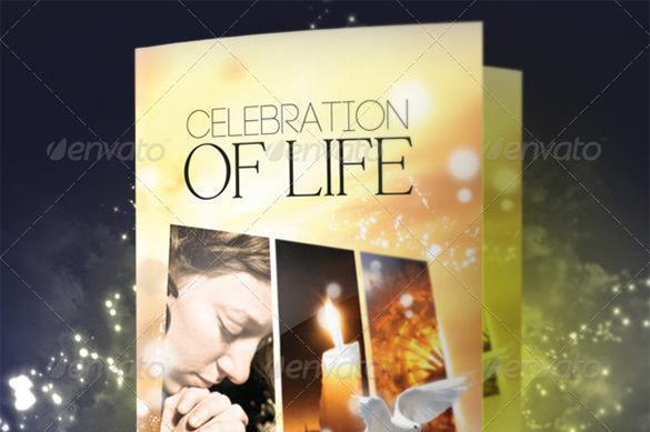 Life templates download free premium templates forms for Free celebration of life program template